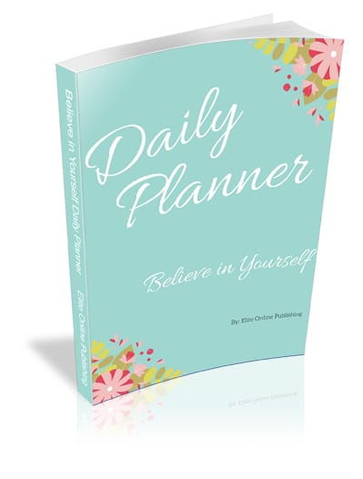 Daily Planner Believe