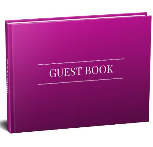 Pink Guest Book