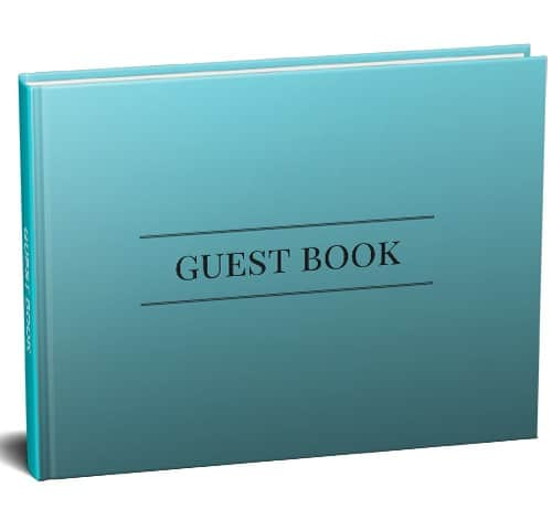 Teal Guest Book