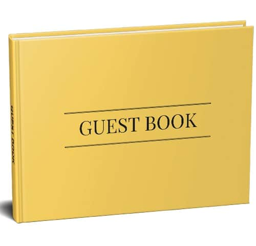 Yellow Guest Book
