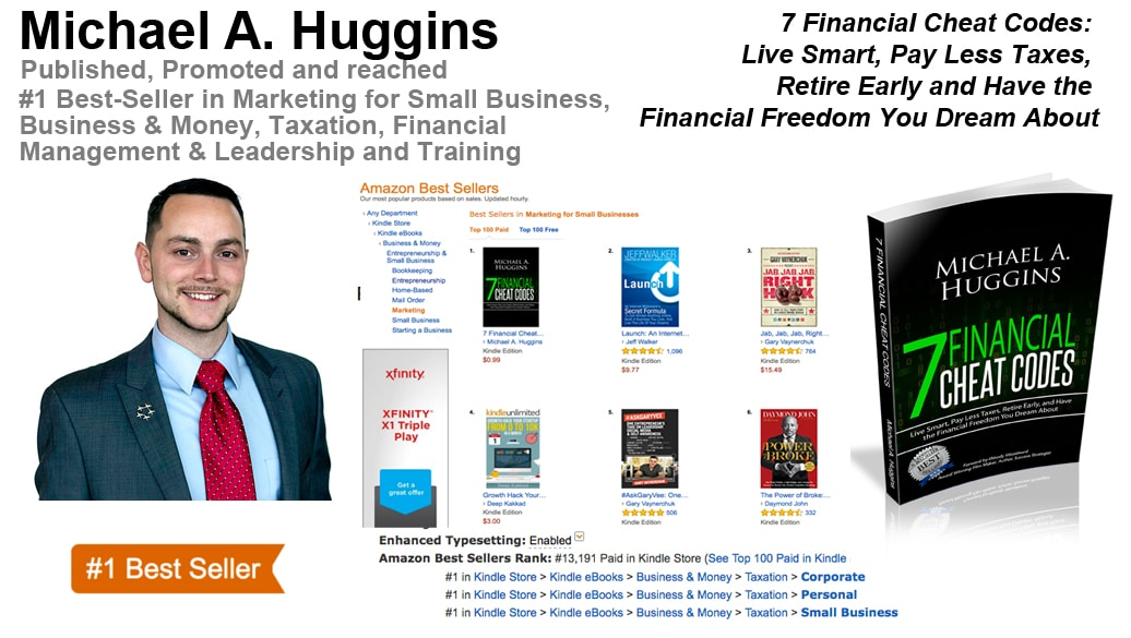 Michael A. Huggins Hits #1 Best-Seller List