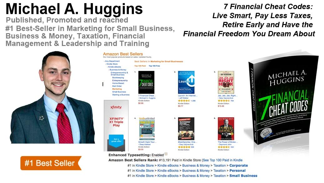 Michael A. Huggins Hits #1 Best-Seller List