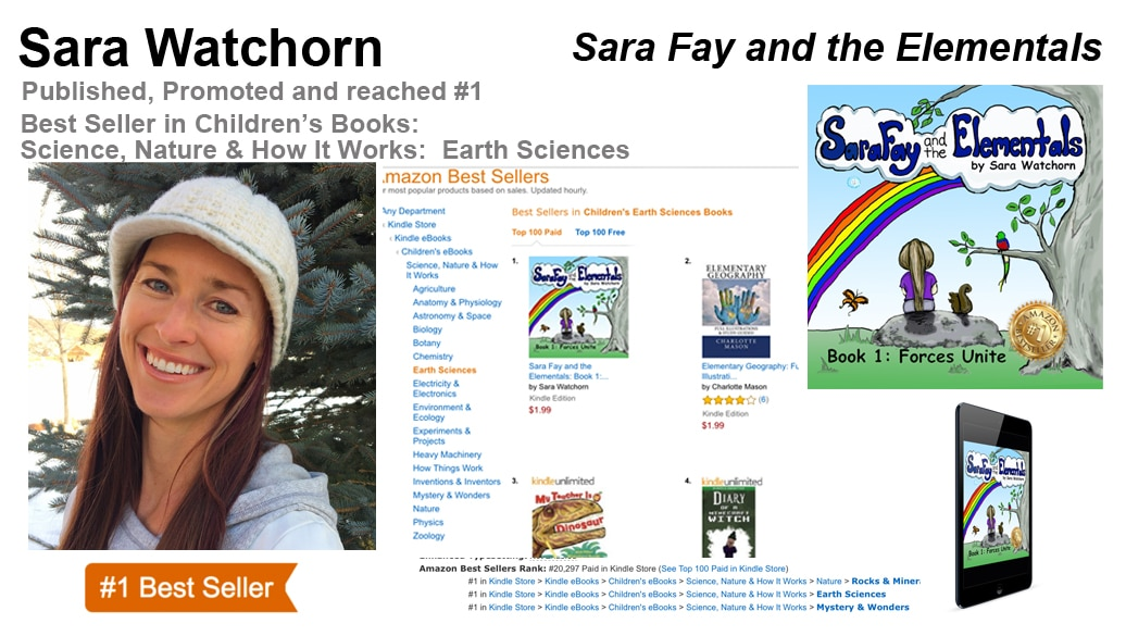 Sara Watchorn Hits #1 Amazon Best-Seller List