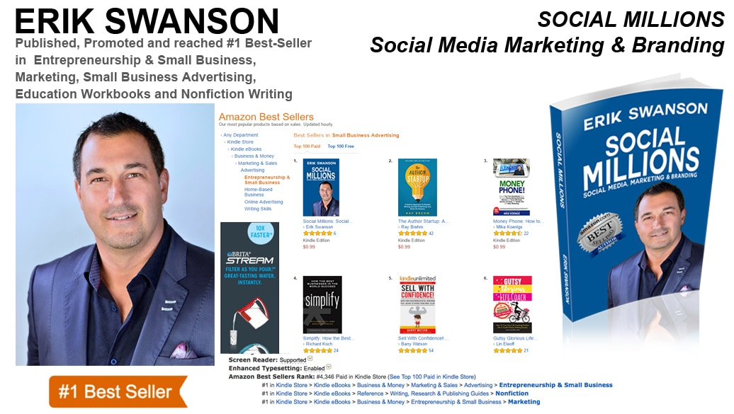 Erik Swanson Hits #1 Amazon Best-Seller List