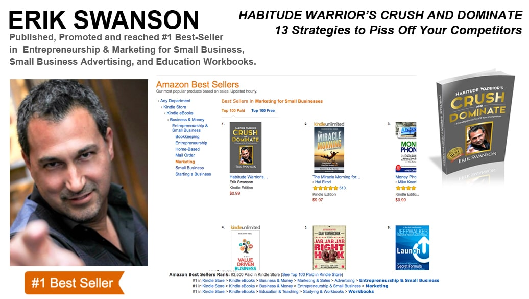 Erik Swanson Achieves Two-Time #1 Best-Selling Author This Year