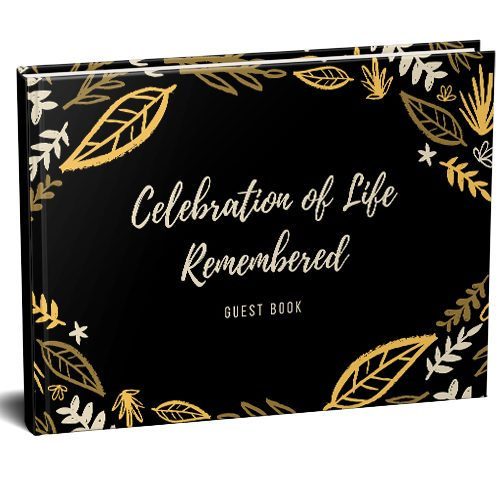 Celebration Funeral Guest Book