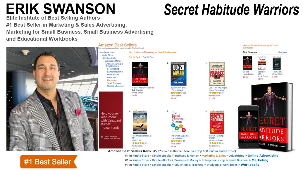 Erik Swanson Achieves Three-Time #1 Best-Selling Author This Year