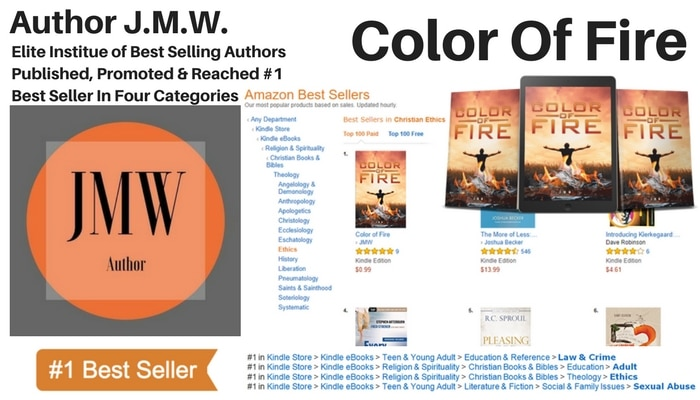 "Author JMW Hits #1 With New Thriller ""Color Of Fire"""