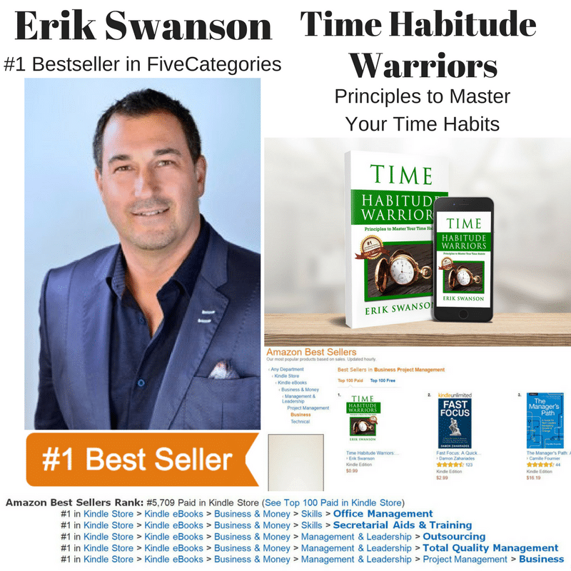 Erik Swanson Becomes a Seven-Time #1 Amazon Bestseller With His Book – Time Habitude Warriors