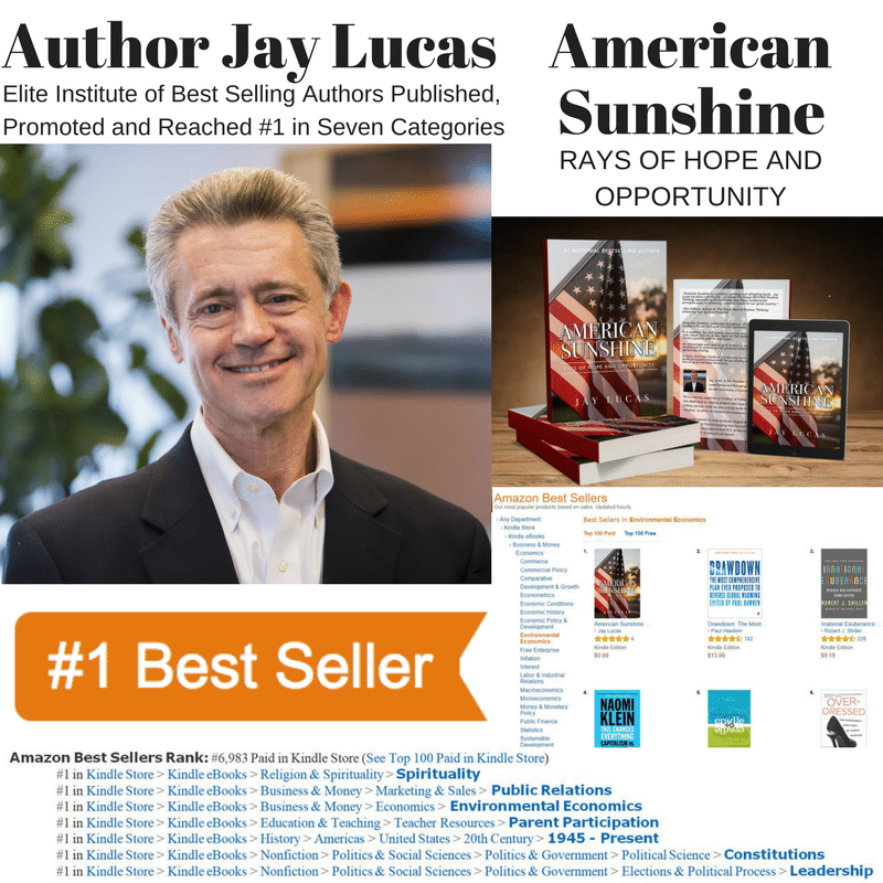 Author Jay Lucas Becomes #1 Amazon Bestseller With American Sunshine