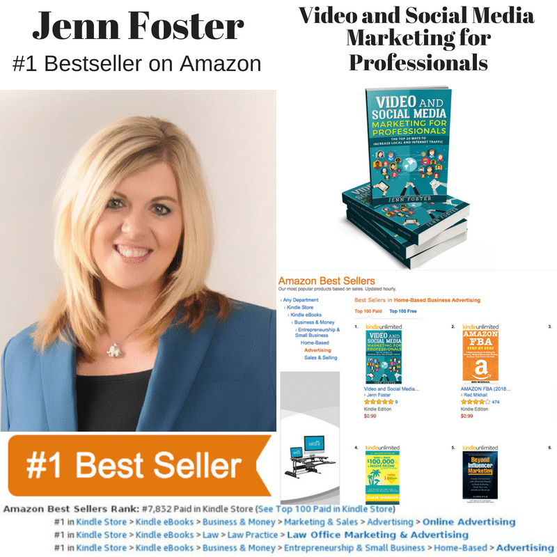 Jenn Foster Hit #1 with the 2nd Edition of Video and Social Media Marketing for Professionals