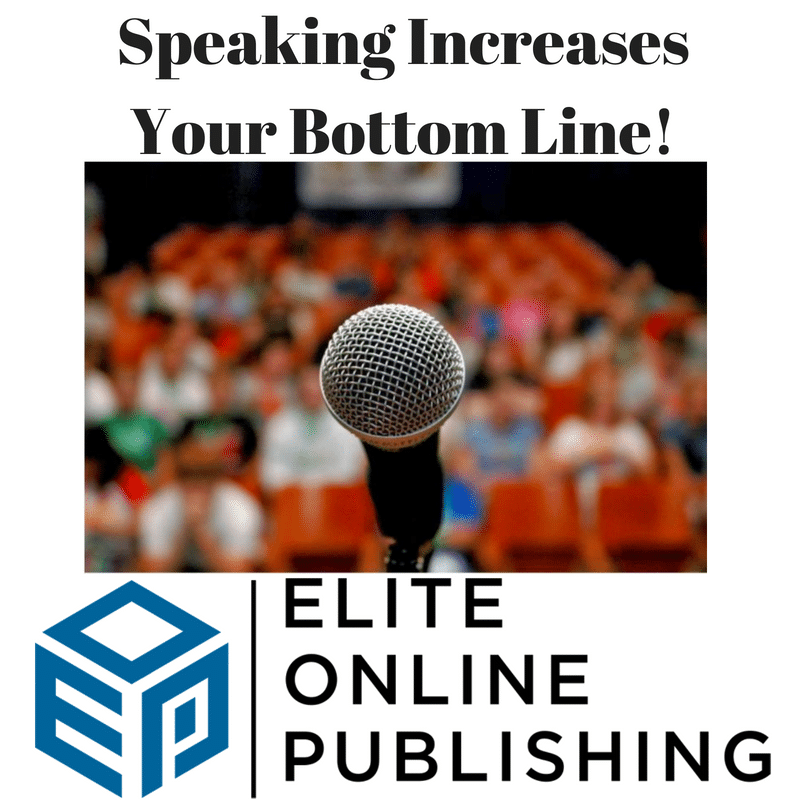 Speaking Benefits Your Bottom Line