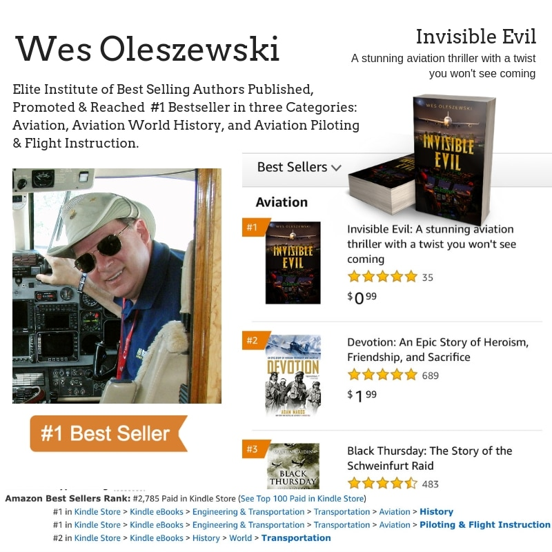 Author Wes Oleszewski Hits #1 Bestseller on Amazon