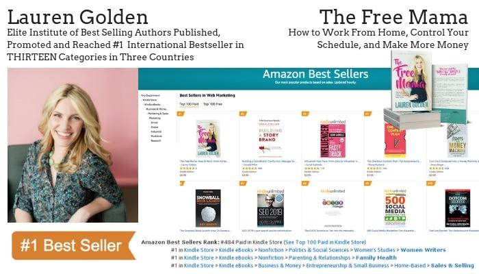 Author Lauren Golden Hits #1 Bestseller | Elite Online