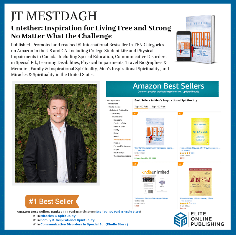 Author JT Mestdagh Hits #1 Bestseller with Untether