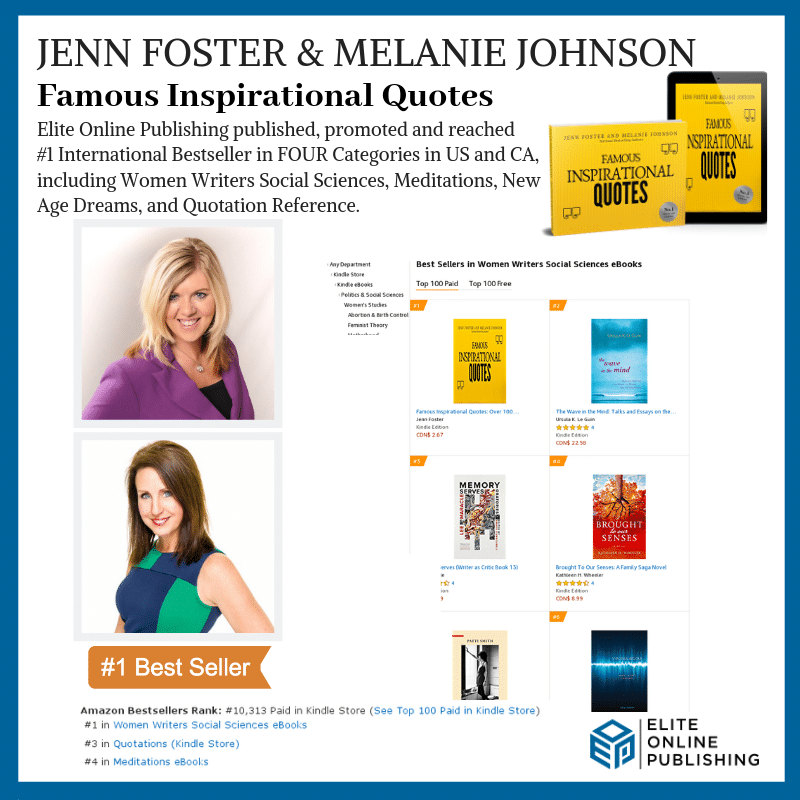 Authors Jenn Foster & Melanie Johnson Hit #1 International Bestseller with 'Famous Inspirational Quotes'