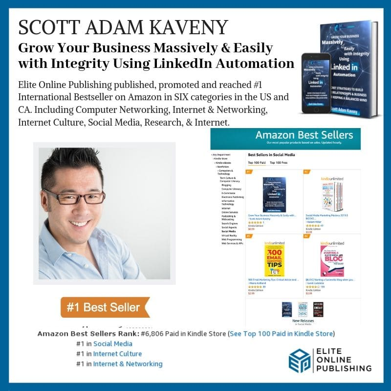 New #1 International Bestselling Author Scott Adam Kaveny
