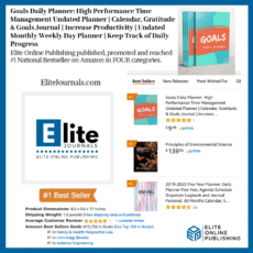 Goals Daily Planner by Elite Journals Hits #1 Bestseller on Amazon