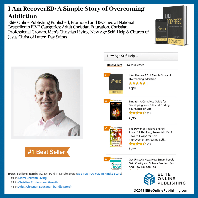 Todd Sylvester Hits #1 Bestselling Author with I Am RecoverED