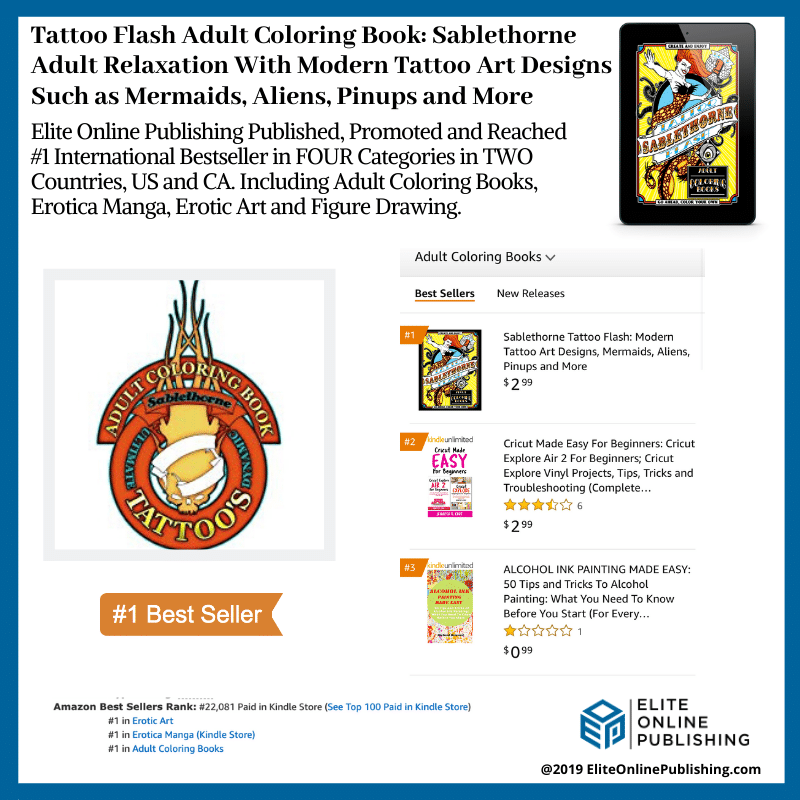 Sablethorne Hits #1 International Bestseller With New Adult Coloring Book