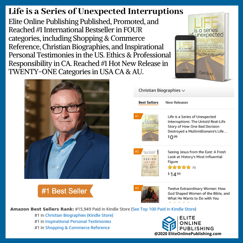 Author Clark East Hit #1 International Bestseller With New Book