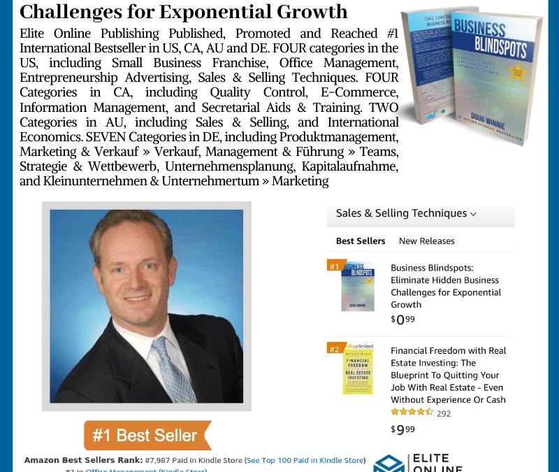 Author Doug Winnie Hit #1 International Bestseller on Amazon with New Book Business Blindspots
