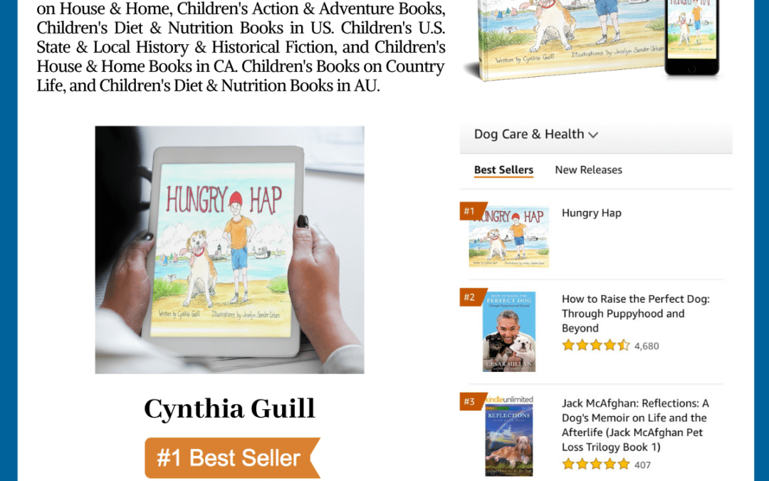 "Author Cynthia Guill Reaches #1 International Bestselling Author with her book ""Hungry Hap"""