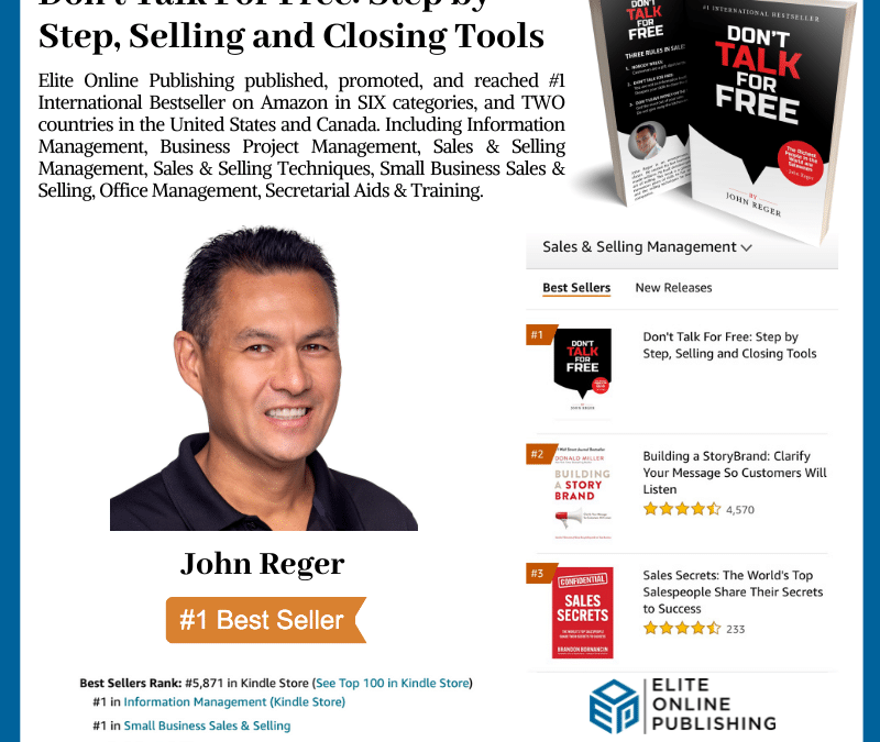 Author John Reger Hits #1 International Bestseller on Amazon
