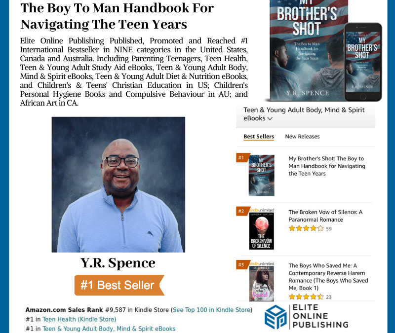 Author Y.R. Spence Reaches #1 International Bestseller